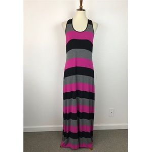 Calvin Klein Striped Racerback Maxi Dress